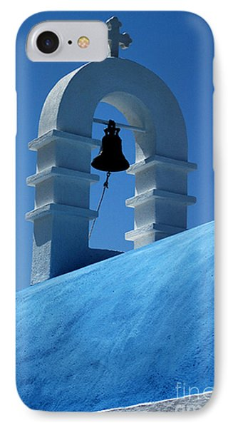The Bell Tower In Mykonos IPhone Case by Vivian Christopher