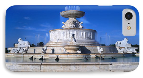 IPhone Case featuring the photograph The Belle Isle Scott Fountain by Gordon Dean II