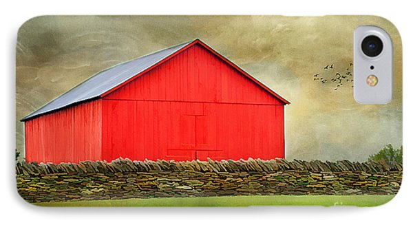 The Big Red Barn Phone Case by Darren Fisher