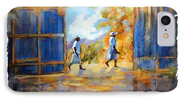 The Blue Gates Of Haiti Phone Case by Bob Salo