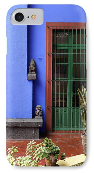 The Blue House Mexico City IPhone Case by John  Mitchell