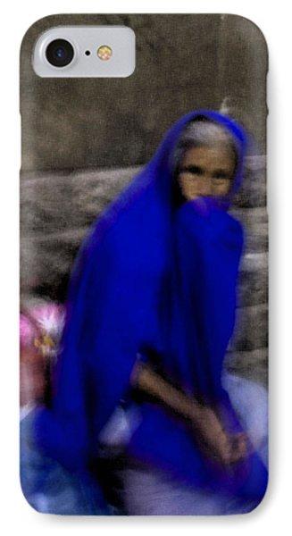 The Blue Shawl IPhone Case by Lynn Palmer