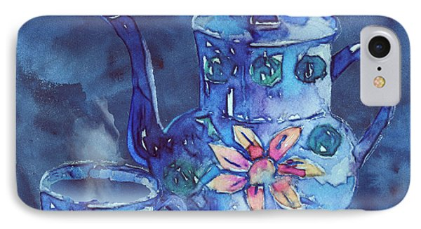 The Blue Teapot Phone Case by Arline Wagner