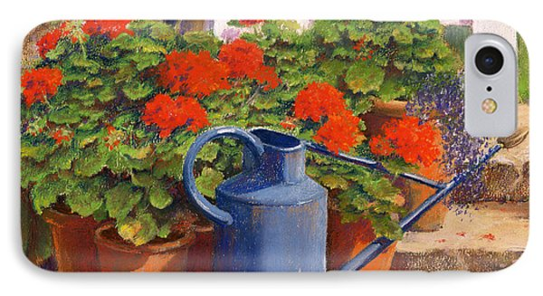 Garden iPhone 7 Case - The Blue Watering Can by Anthony Rule