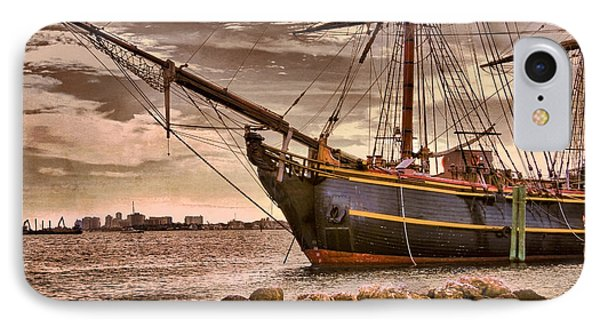 The Bow Of The Hms Bounty Phone Case by Debra and Dave Vanderlaan