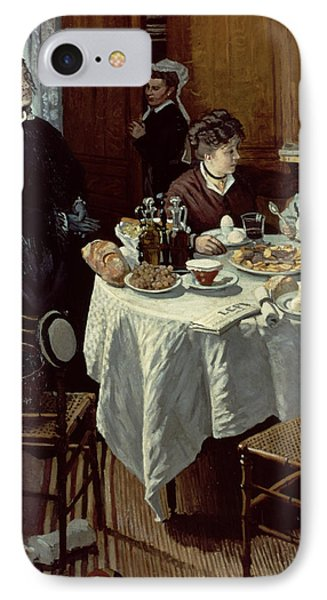 The Breakfast Phone Case by Claude Monet