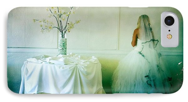 IPhone Case featuring the photograph The Bride Takes A Moment by Nina Prommer