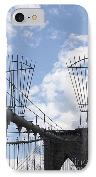 The Bridge In Brooklyn Phone Case by David Bearden
