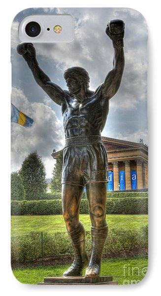 The Bronze Stallion - Rocky Balboa - Philadelphia - Pennsylvania - Rocky Steps IPhone Case