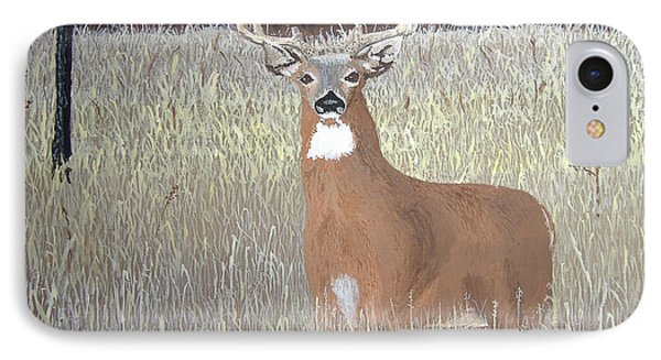 IPhone Case featuring the painting The Buck Stops Here by Norm Starks
