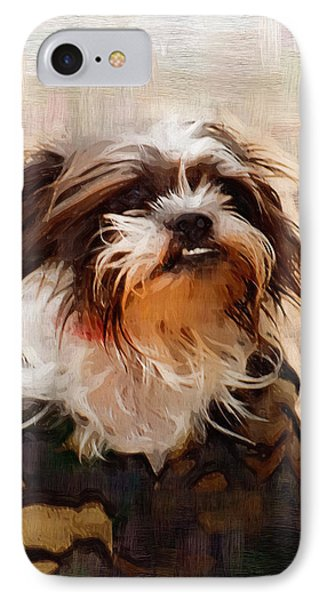 The Camo Makes The Dog Phone Case by Kathy Clark