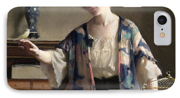 The Canary Phone Case by William McGregor Paxton