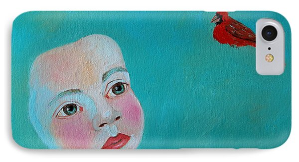 The Cardinal's Song Phone Case by Ana Maria Edulescu