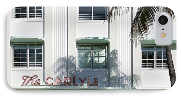 The Carlyle Hotel 2. Miami. Fl. Usa IPhone Case by Juan Carlos Ferro Duque