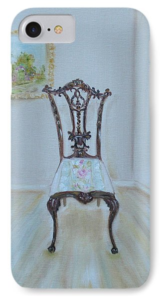 IPhone Case featuring the painting The Chair by Judith Rhue