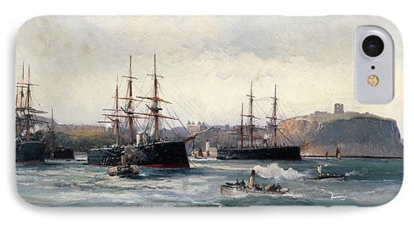 The Channel Fleet Off Scarborough IPhone Case by William Lionel Wyllie