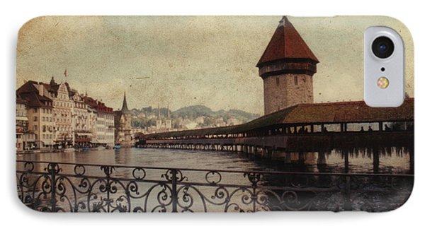 The Chapel Bridge In Lucerne Switzerland Phone Case by Susanne Van Hulst