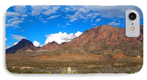 The Chisos Mountains Big Bend Texas Phone Case by Gregory G Dimijian MD