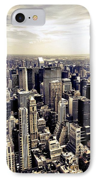 The Chrysler Building And Skyscrapers Of New York City IPhone Case by Vivienne Gucwa