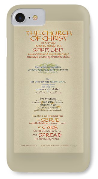 The Church Of Christ In Every Age II Phone Case by Judy Dodds
