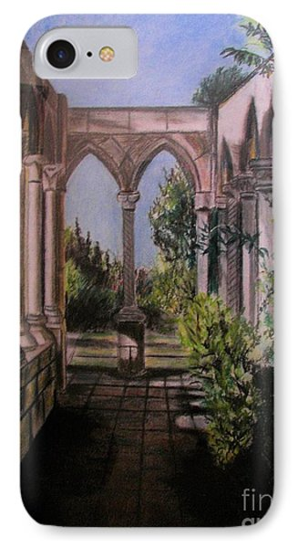 The Cloisters Colonade IPhone Case by Judy Via-Wolff