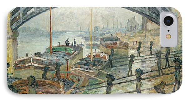 The Coal Workers Phone Case by Claude Monet