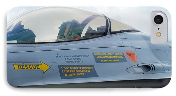 The Cockpit Of An F-16 Fighting Falcon Phone Case by Luc De Jaeger
