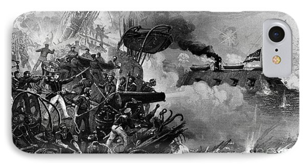 The Confederate Ironclad Merrimack Phone Case by Photo Researchers