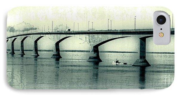 The Confederation Bridge Pei Phone Case by Edward Fielding
