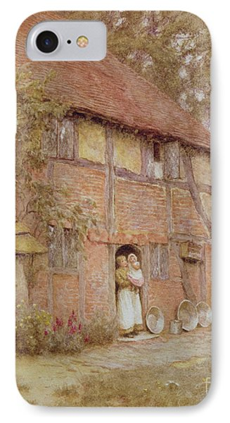 The Cottage With Beehives Phone Case by Helen Allingham