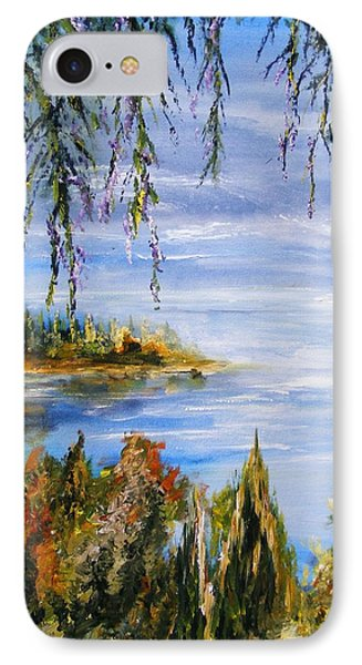 IPhone Case featuring the painting The Cove by Karen  Ferrand Carroll