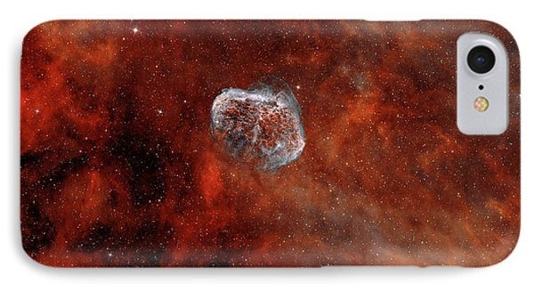 The Crescent Nebula With Soap-bubble Phone Case by Rolf Geissinger