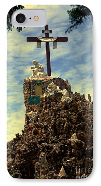The Cross IIi In The Grotto In Iowa Phone Case by Susanne Van Hulst