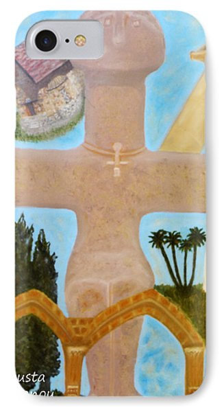 The Cross-like Idol Of Pomos IPhone Case by Augusta Stylianou
