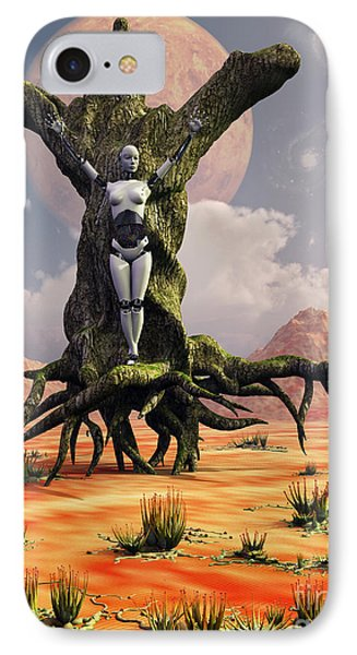 The Crucifixion Of A Messianic Martyr Phone Case by Mark Stevenson