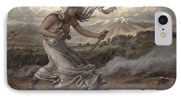 The Cumaean Sibyl IPhone Case by Elihu  Vedder
