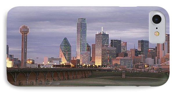 The Dallas Skyline At Dusk Phone Case by Richard Nowitz