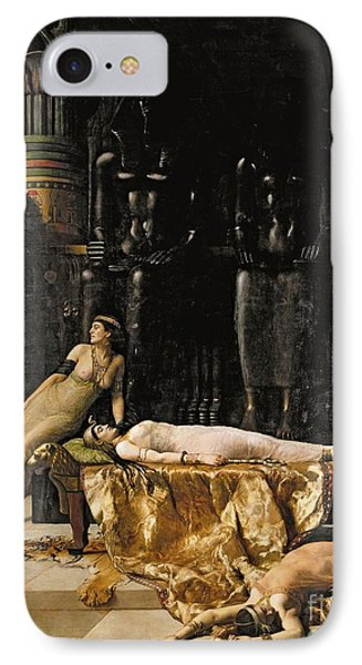The Death Of Cleopatra  Phone Case by John Collier