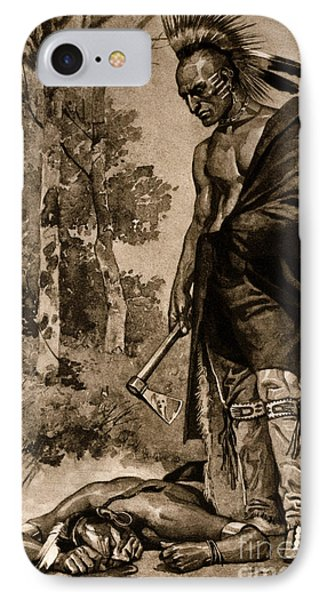 The Death Of Pontiac, 1769 Phone Case by Photo Researchers
