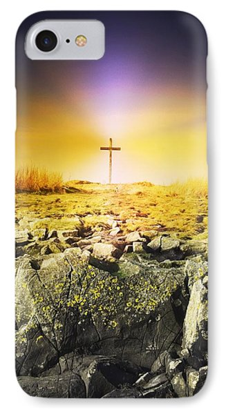 The Death Spot Of St. Cuthbert On Holy Phone Case by John Short
