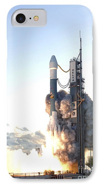 The Delta II Rocket Lifts Phone Case by Stocktrek Images
