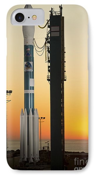 The Delta II Rocket On Its Launch Pad Phone Case by Stocktrek Images