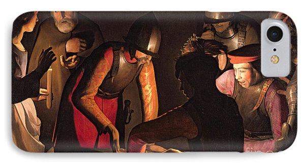 The Denial Of Saint Peter Phone Case by Georges De La Tour
