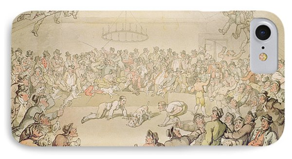 The Dog Fight IPhone Case by Thomas Rowlandson