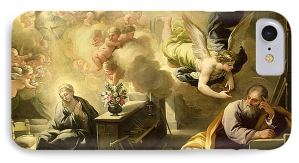 The Dream Of Saint Joseph Phone Case by Luca Giordano