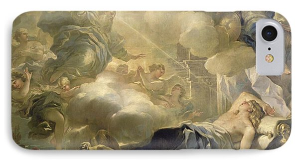 The Dream Of Solomon IPhone Case by Luca Giordano