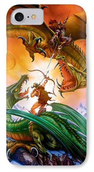 The Duel IPhone Case by The Dragon Chronicles