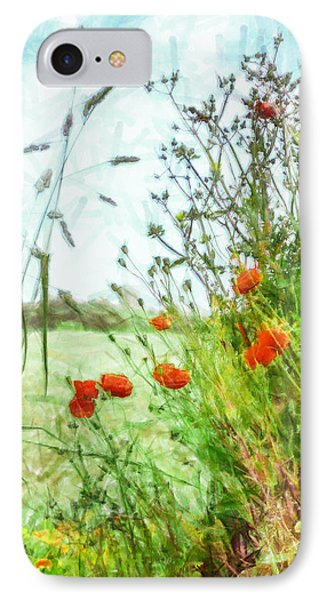 IPhone Case featuring the digital art The Edge Of The Field by Steve Taylor