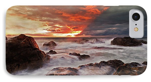 IPhone Case featuring the photograph The Edge Of The Storm by Beverly Cash