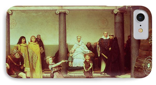 The Education Of The Children Of Clothilde And Clovis Phone Case by Sir Lawrence Alma-Tadema